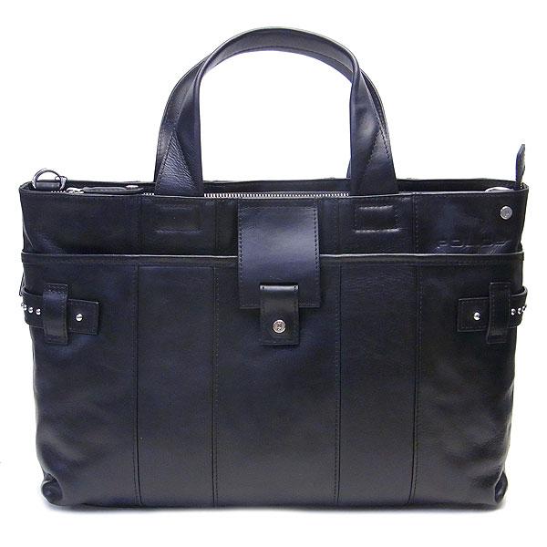 POLICE ポリス メンズ バッグ ビジネスバッグ ブリーフケース ブラック STUDS スタッズ PAー61002ー10 ブラック エクセルワールド バッグ バック プレゼントにも TP