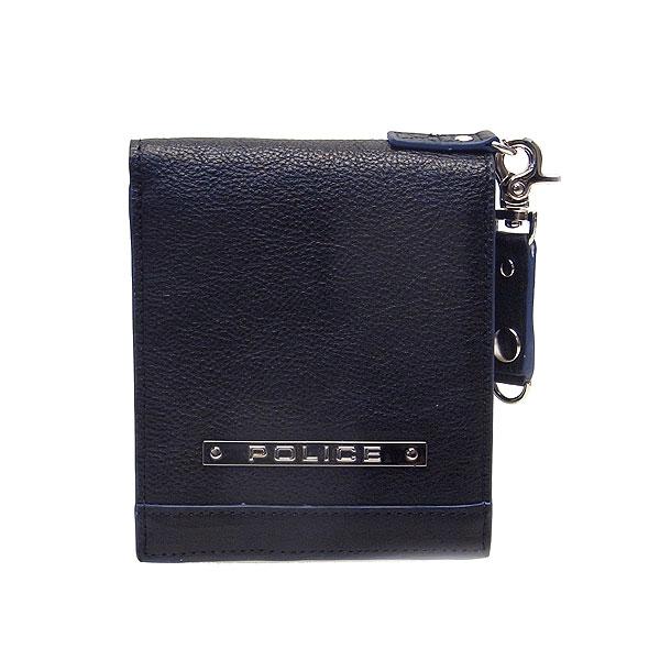 POLICE ポリス メンズ 二つ折り財布 MODEST 財布 PAー58500ー10 ブラック エクセルワールド プレゼントにも ウォレット TP