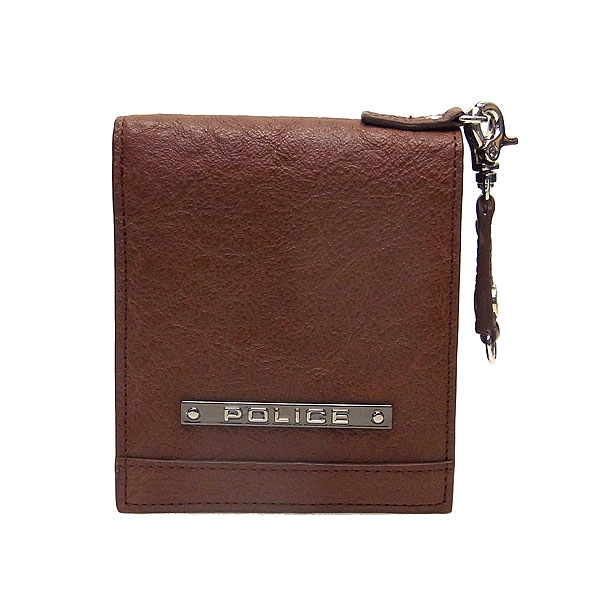 POLICE ポリス メンズ 二つ折り財布 MODEST PAー58500ー29 チョコ エクセルワールド プレゼントにも ウォレット 財布 TP
