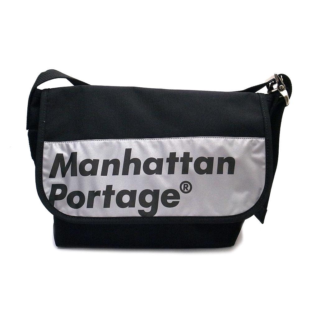 マンハッタンポーテージ MP1606V REFL BK ショルダー バッグ メッセンジャー LOGO ON REFLECTOR ManhattanPortage ブラック『あす楽』