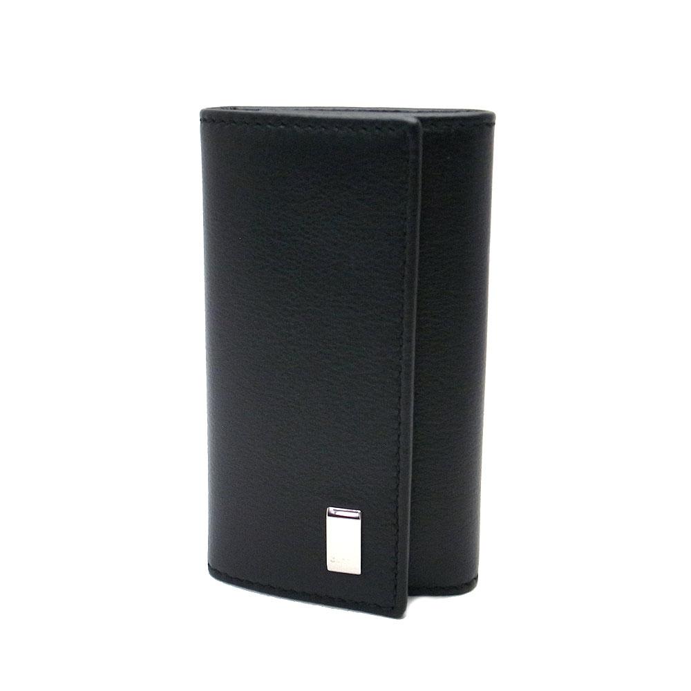ダンヒル キーケース メンズ QD5020A DUNHILL 6連キーホルダー サイドカー レザー ブラック【あす楽 】
