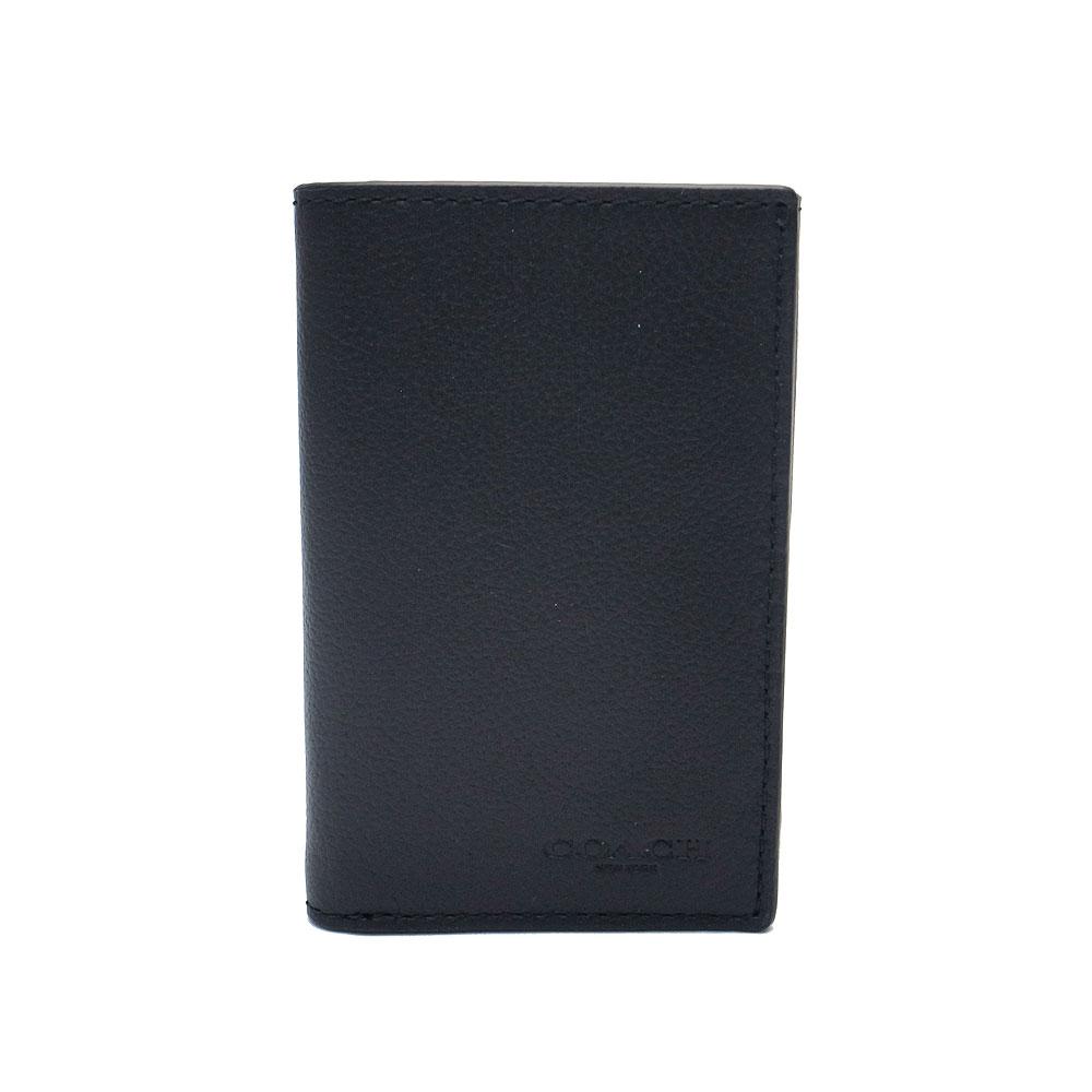 コーチ 財布 アウトレット メンズ 三つ折り財布 F23845 BLK COACH カーフレザー ブラック【あす楽】 送料無料 エクセルワールド ブランド プレゼントにも