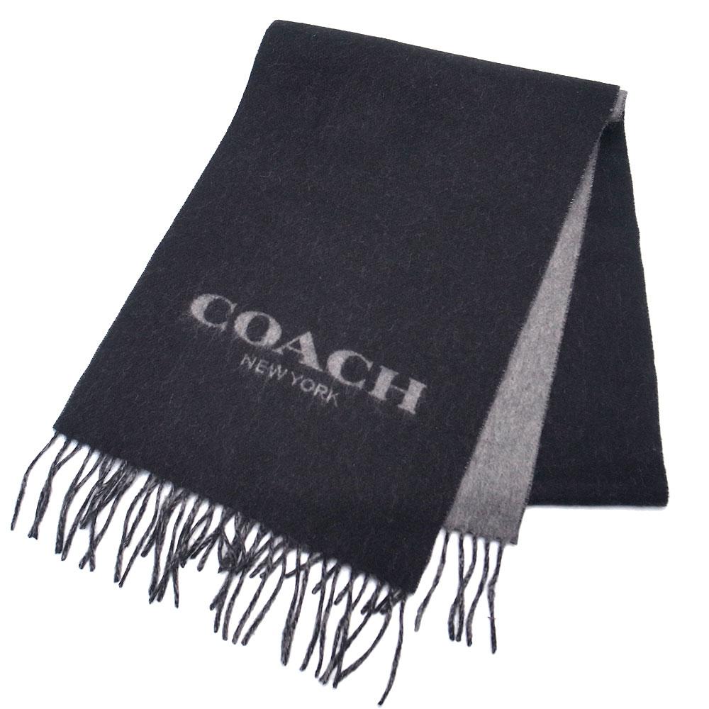 コーチ COACH アウトレット マフラー ウール カシミヤ入り F76053 BKGY ブラック×グレー【あす楽】エクセルワールド ブランド プレゼントにも