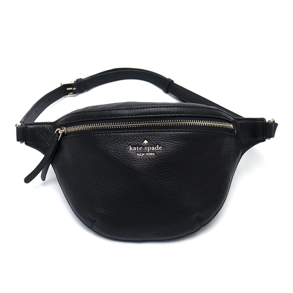 ケイトスペード バッグ アウトレット ウェストポーチ ウェストバッグ WKRU5943 001 kate spade レザー ブラック【あす楽】 エクセルワールド バッグ バック ブランド プレゼントにも