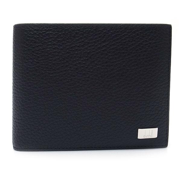 ダンヒル 財布 メンズ 19F2932AV 001 DUNHILL 二つ折り財布 小銭入れ付き アボリティーズ レザー ブラック【あす楽】 エクセルワールド ブランド プレゼントにも ウォレット