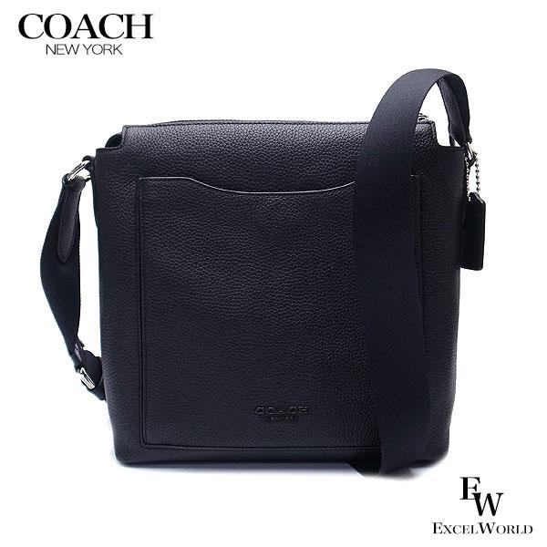 コーチ COACH バッグ アウトレット メンズ ショルダーバッグ 91303 NIBLK レザー ブラック  【あす楽 】 エクセルワールド バッグ バック ブランド プレゼントにも