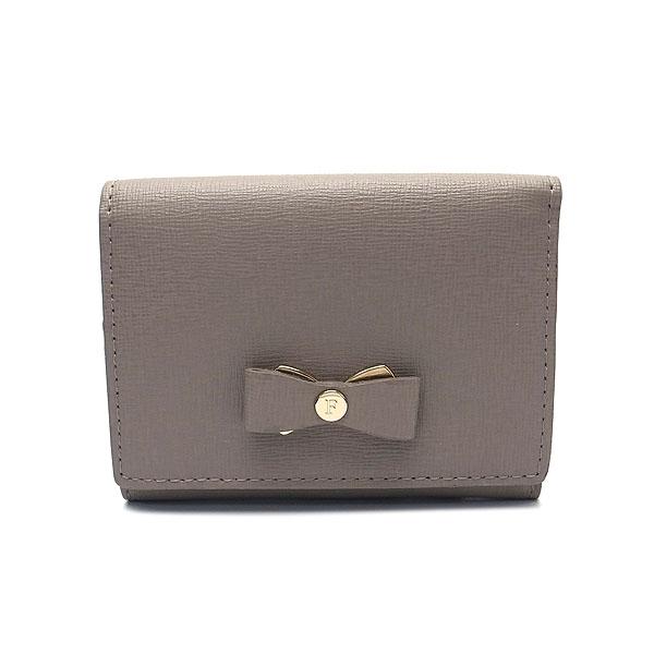 フルラ 財布 アウトレット 三つ折り財布 1041708 FURLA 保存袋付 SABBIA グレー【あす楽】 エクセルワールド プレゼントにも ウォレット おしゃれブランド
