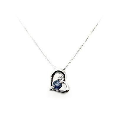 サファイア [9月の誕生石] WG ペンダント ネックレス JK42032S60 エクセルワールド プレゼントにも おしゃれ アクセサリー