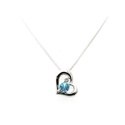 ブルートパーズ [11月の誕生石] WG ペンダント ネックレス JK42034S60 エクセルワールド プレゼントにも おしゃれ アクセサリー