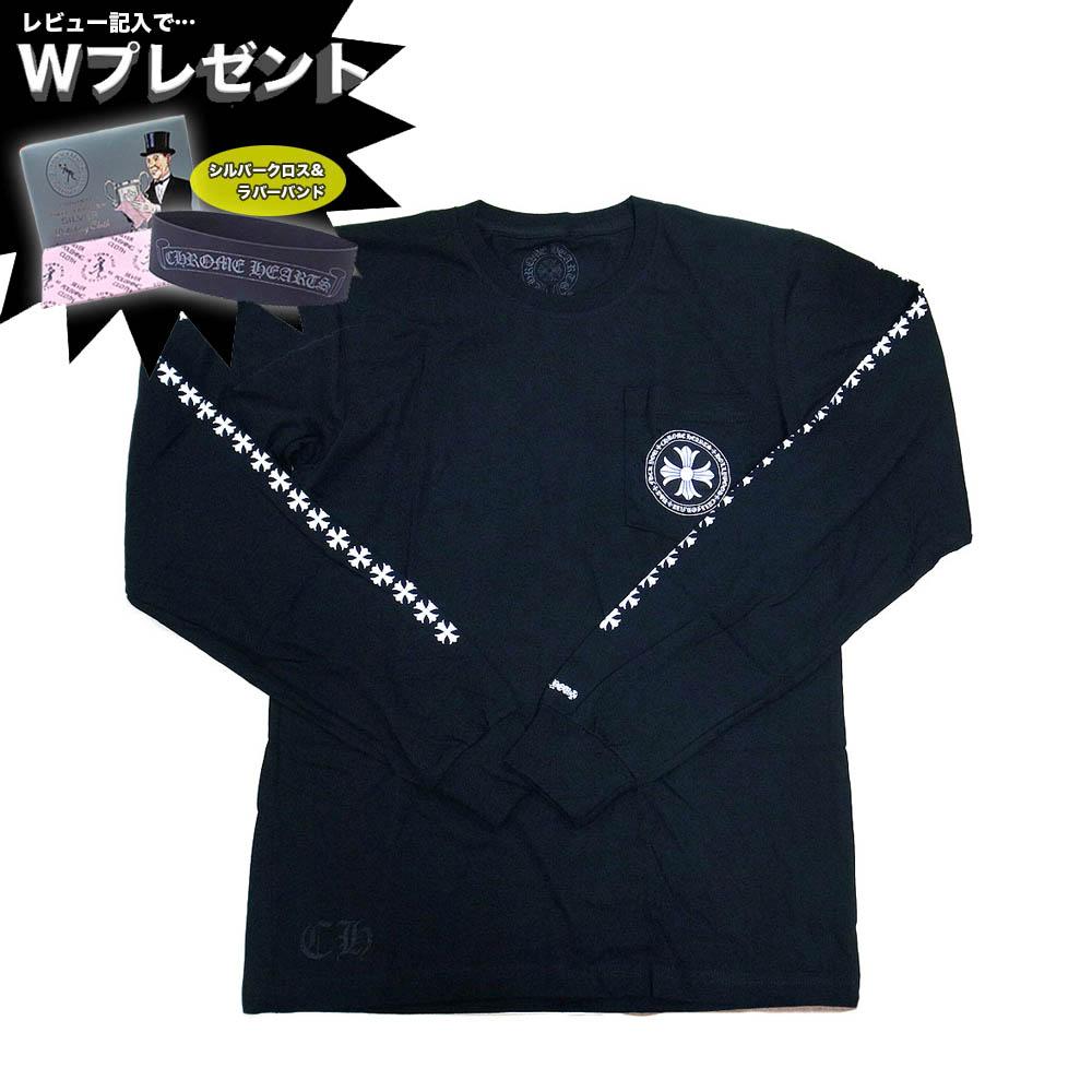 クロムハーツ Tシャツ 長袖Tシャツ ロングスリーブ CHROME HEARTS 408129112BLKMED554 ブラック【送料無料/一部離島を除く】