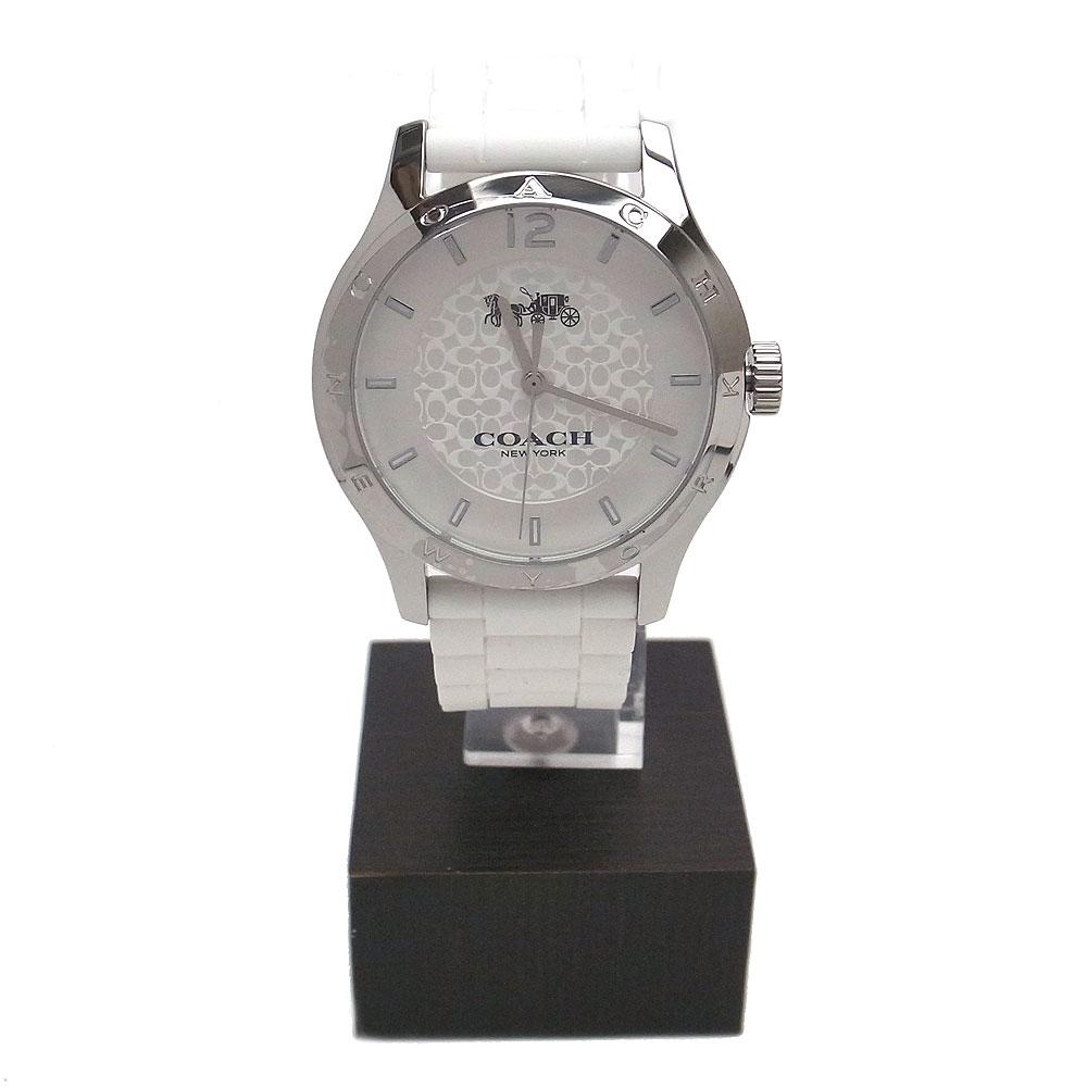 コーチ 時計 レディース W6033 WHT 14502218 COACH ラバー ベルト 腕時計 アナログ時計 ホワイト【あす楽】