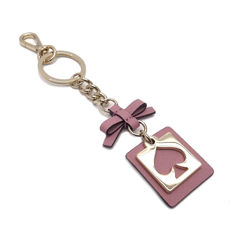 Kate spade key ring outlet key ring WORU0087 682 kate spade CUT OUT SPADE  dark pink