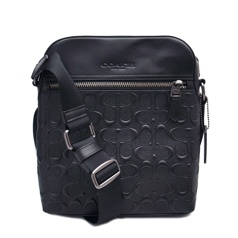 コーチ メンズ バッグ アウトレット ショルダーバッグ F73338 QBBK COACH クロスボディー ブラック【あす楽】 エクセルワールド ショルダーバック バッグ バック 斜め掛け ブランド プレゼントにも