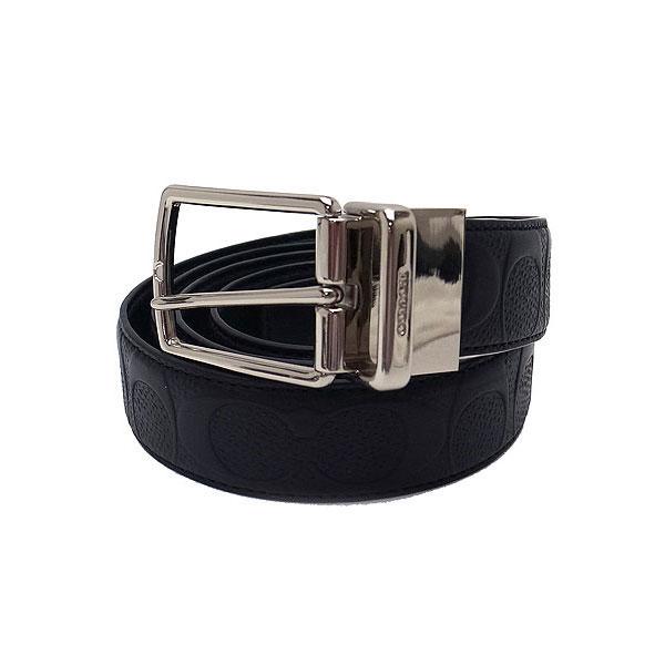 COACH コーチ アウトレット メンズ ベルト リバーシブル レザー F55158 BLK ブラック ベルトカット可能【あす楽】 エクセルワールド ブランド プレゼントにも