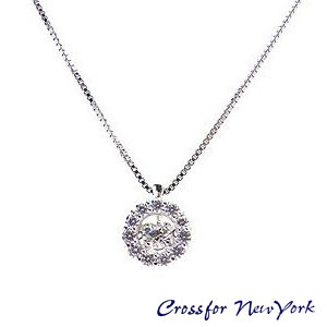Cross For New York クロスフォー ニューヨーク シルバー Twinkle Flower マザーズデー コレクション スウィング ネックレス NYPー507 エクセルワールド プレゼントにも おしゃれ アクセサリー TP