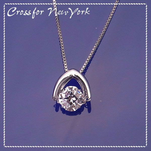Cross For New York クロスフォー ニューヨーク シルバー Dancing Stone ダンシングストーンコレクション スウィング ネックレス NYPー533 エクセルワールド プレゼントにも おしゃれ アクセサリー TP