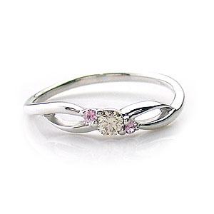 ダイヤモンド リング K10 WG Sweet Heart 1300768 エクセルワールド プレゼントにも おしゃれ アクセサリー