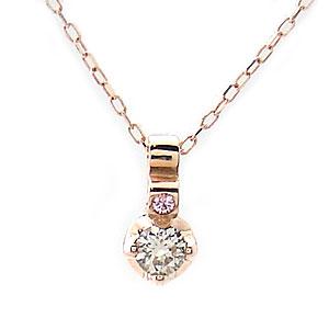 ダイヤモンド ネックレス K10 PG Sweet Heart 1300772 ジュエリー エクセルワールド プレゼントにも おしゃれ アクセサリー