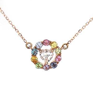 K10 PG Rainbow ネックレス 1301369 ジュエリー エクセルワールド プレゼントにも おしゃれ アクセサリー