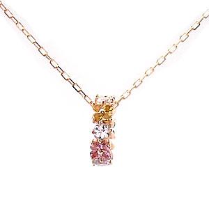 Rainbow ネックレス K10 PG 1301371 ジュエリー エクセルワールド プレゼントにも おしゃれ アクセサリー