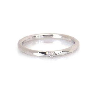 ダイヤカットがきれいなピンキーリング WG ダイヤモンド 0.01ct 214680 【オーダーメイド商品】 エクセルワールド プレゼントにも おしゃれ アクセサリー