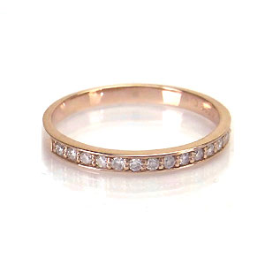 K10 PG ダイヤモンド 0.15ct リング シンプル 510291 エクセルワールド プレゼントにも おしゃれ アクセサリー