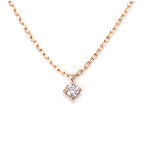 K10 PG ダイヤモンド ネックレス 0.03ct 512762 エクセルワールド プレゼントにも おしゃれ アクセサリー