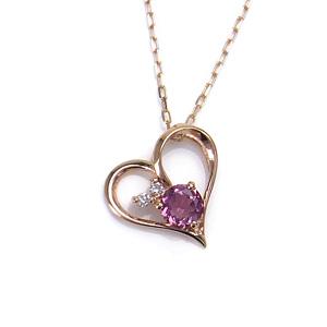 K10 PG ネックレス ピンクトパーズ ダイヤモンド 0.02ct 270501017688 エクセルワールド プレゼントにも おしゃれ アクセサリー