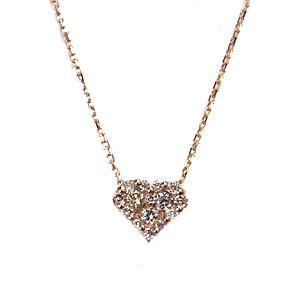 K10 PG Glamorous Lady ネックレス ダイヤモンド 0.11ct LX00079 エクセルワールド プレゼントにも おしゃれ アクセサリー