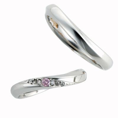 Pink Dolphin Diamond ピンクドルフィン マリッジリング (結婚指輪) 1255141ー1307847 エクセルワールド プレゼントにも