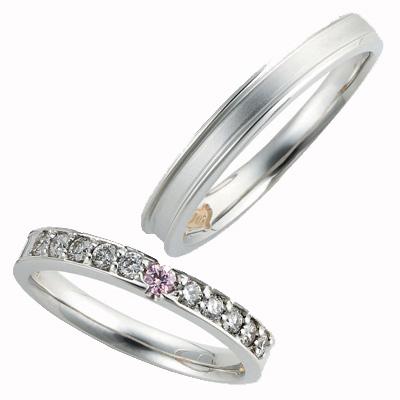 Pink Dolphin Diamond ピンクドルフィン マリッジリング (結婚指輪) 1255147ー1255146 エクセルワールド プレゼントにも