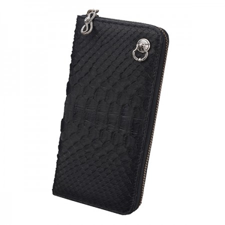 bizarre ビザール 財布 マーべラスパイソンラウンドジップロングウォレット(ロゴドロップハンドル) ブラック LWP034BK エクセルワールド プレゼントにも