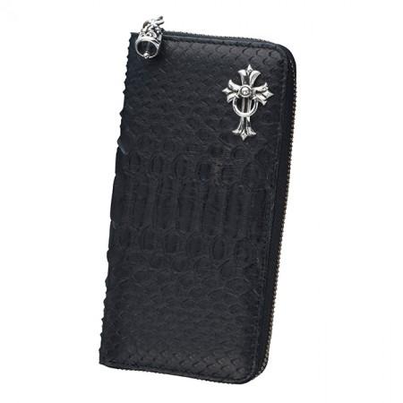 bizarre ビザール 財布 マジェスティックパイソンラウンドジップロングウォレット(シルバークロスドロップハンドル)ブラック LWP036BK エクセルワールド プレゼントにも
