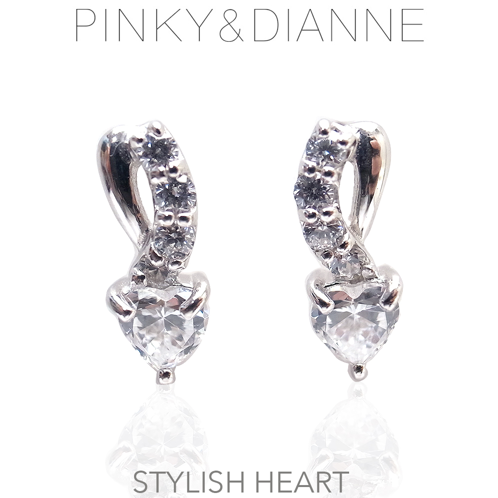 ピンキー&ダイアン ピアス 52179 Pinky&Dianne Stylish Heart スタイリッシュハート エクセルワールド ブランド プレゼントにも おしゃれ アクセサリー TP1