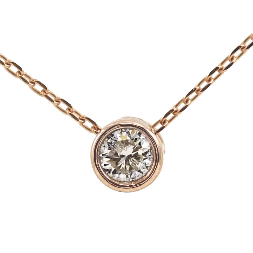 K10 10金 PG ピンクゴールド ダイヤモンド ネックレス 人気 ギフト ご褒美 PDCTー012 エクセルワールド プレゼントにも おしゃれ アクセサリー