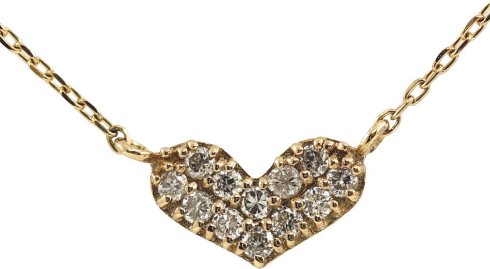 K10 10金 YG イエローゴールド ダイヤモンド ハート ネックレス 人気 ギフト ご褒美 PDCTー016 エクセルワールド プレゼントにも おしゃれ アクセサリー