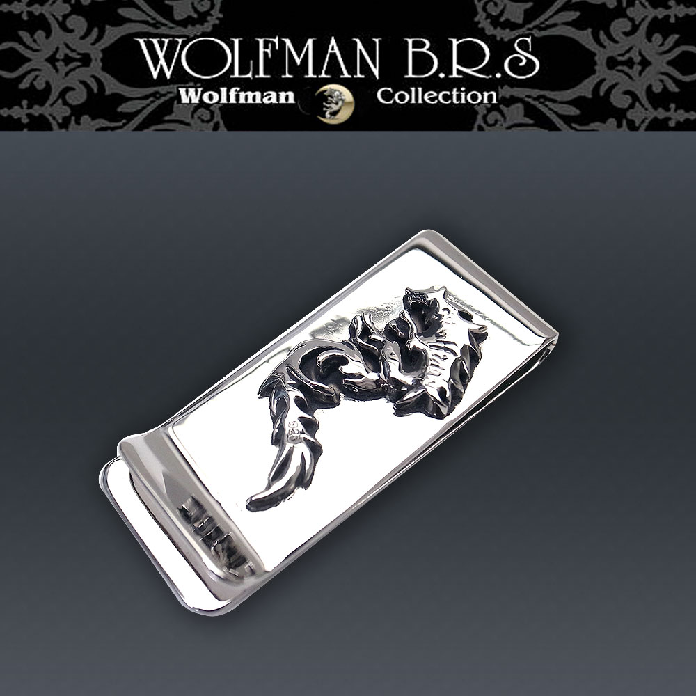 ウルフマン BRS WOLFMAN B.R.S ウルフマン マネークリップ woーmcー9【送料無料でお届け】 エクセルワールド ブランド プレゼントにも TP