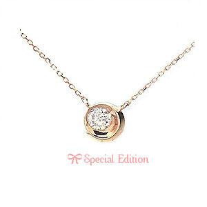 K10 PG Special Edition ネックレス 0.13ctダイヤモンド Rondoletto 1301396 エクセルワールド プレゼントにも おしゃれ アクセサリー