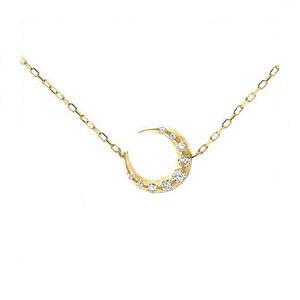 K10 YG ネックレス ダイヤモンド 9石 A'la Carte ムーン 1301215 エクセルワールド プレゼントにも おしゃれ アクセサリー