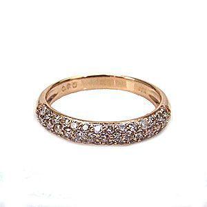 プチセレブな ダイヤモンド ピンキーリング パヴェセッティング K10 PG 0.3ct 1289596 エクセルワールド プレゼントにも おしゃれ アクセサリー