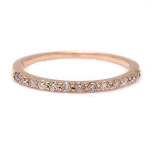 ピンキーリング ダイヤモンド K10 PG Tiny Pinky 1287508 エクセルワールド プレゼントにも おしゃれ アクセサリー