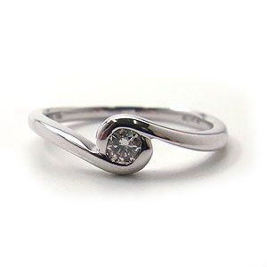 オーダーメイド商品 K10 WG ダイヤモンド ピンキーリング 1283107 エクセルワールド プレゼントにも おしゃれ アクセサリー