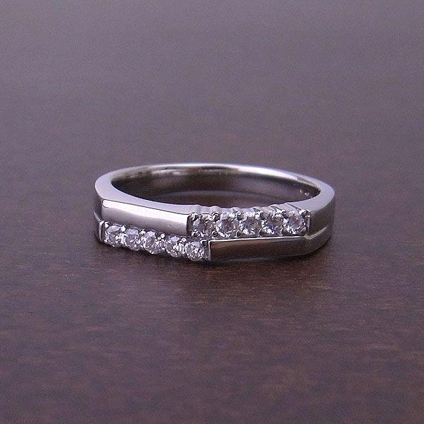 10Thアニバーサリー PT リング ダイヤモンド 結婚10周年の記念に10石のダイヤモンドを使用 0.2ct 595009 エクセルワールド プレゼントにも おしゃれ アクセサリー