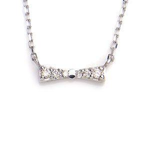 K10 WG ネックレス ダイヤモンド 0.04ct 1284118 エクセルワールド プレゼントにも おしゃれ アクセサリー