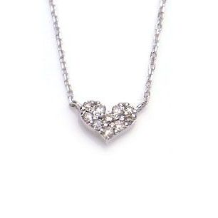 K10 WG ネックレス ダイヤモンド 0.06ct secret message 1301756 エクセルワールド プレゼントにも おしゃれ アクセサリー