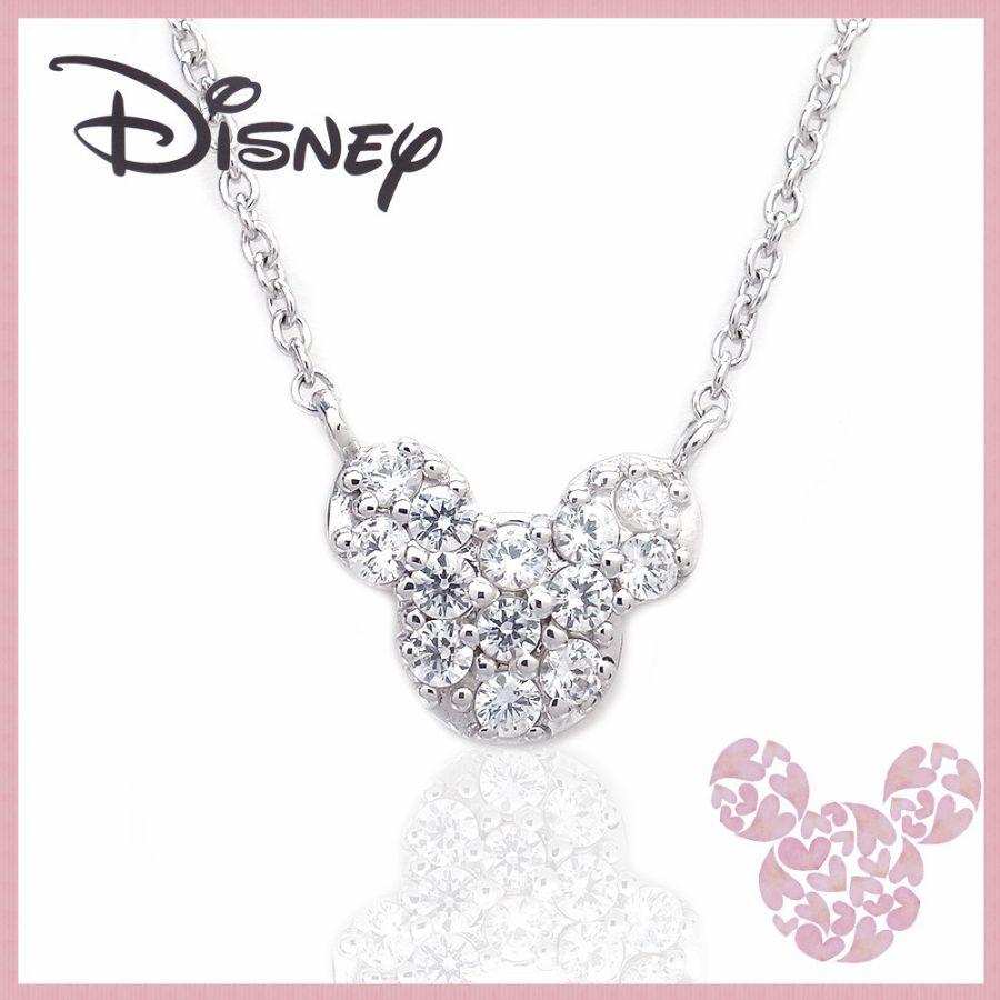 いつもミッキーと一緒 ディズニー Disney ミッキーマウス ネックレス シルバー VPCDS20009 エクセルワールド プレゼントにも おしゃれ アクセサリー ディズニーグッズ SS201912