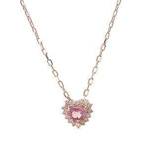 K10 PG ネックレス ピンクトルマリン ダイヤモンド 10月の誕生石 0.08ct 1267850 エクセルワールド プレゼントにも おしゃれ アクセサリー