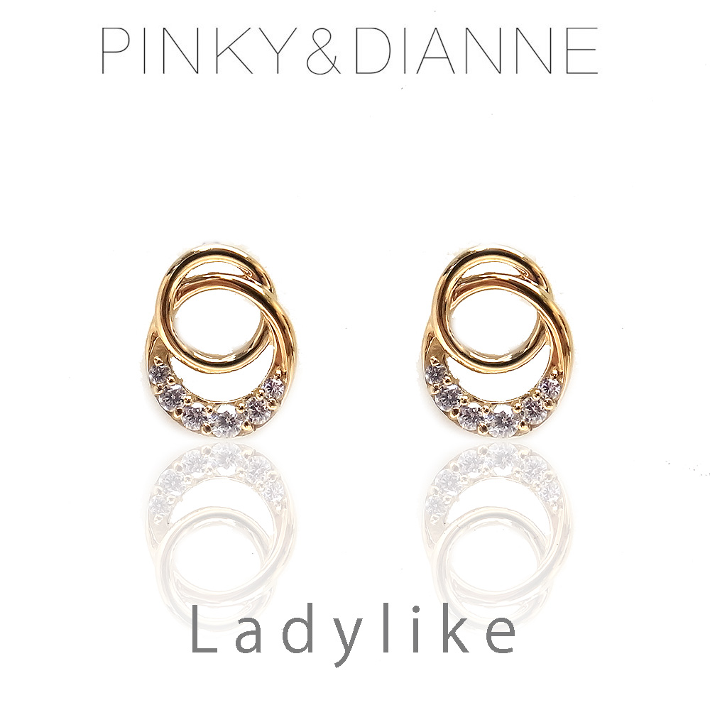 ピンキー&ダイアン ピアス VPRPD 52219 Pinky&Dianne LadyLike レディライク サークル シルバー925 イエローゴールド コーティング CZ エクセルワールド ブランド プレゼントにも おしゃれ アクセサリー TP1