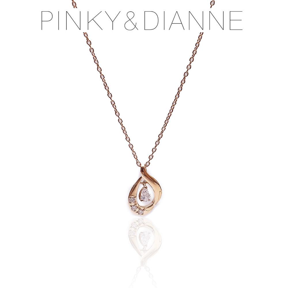 Pinky&Dianne ピンキー&ダイアン ネックレス VPCPD51493 SV 950 ピンクゴールド コーティング キュービック ジルコニア 決算セール&ホワイトデーおすすめ商品