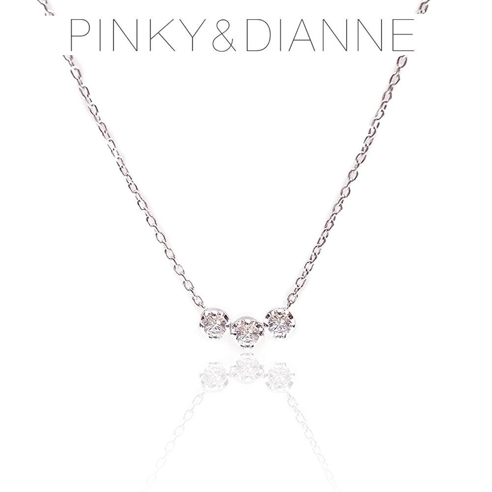Pinky&Dianne ピンキー&ダイアン ネックレス VPCPD51524 SV ロジウム コーティング キュービック ジルコニア エクセルワールド ブランド プレゼントにも おしゃれ アクセサリー TP1